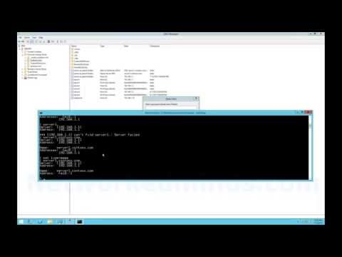 70-410 Objective 4.3 - DNS Resource Records and NSLookup in Windows Server 2012 R2 Lab 4
