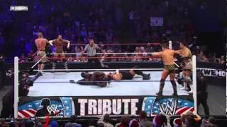 John Cena,CM punk & big show Vs Mark Henry,The Miz & del Rio tribute to the troops