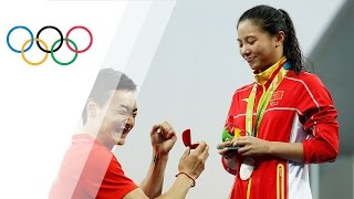 Chinese diver He Zi gets marriage proposal after taking silver