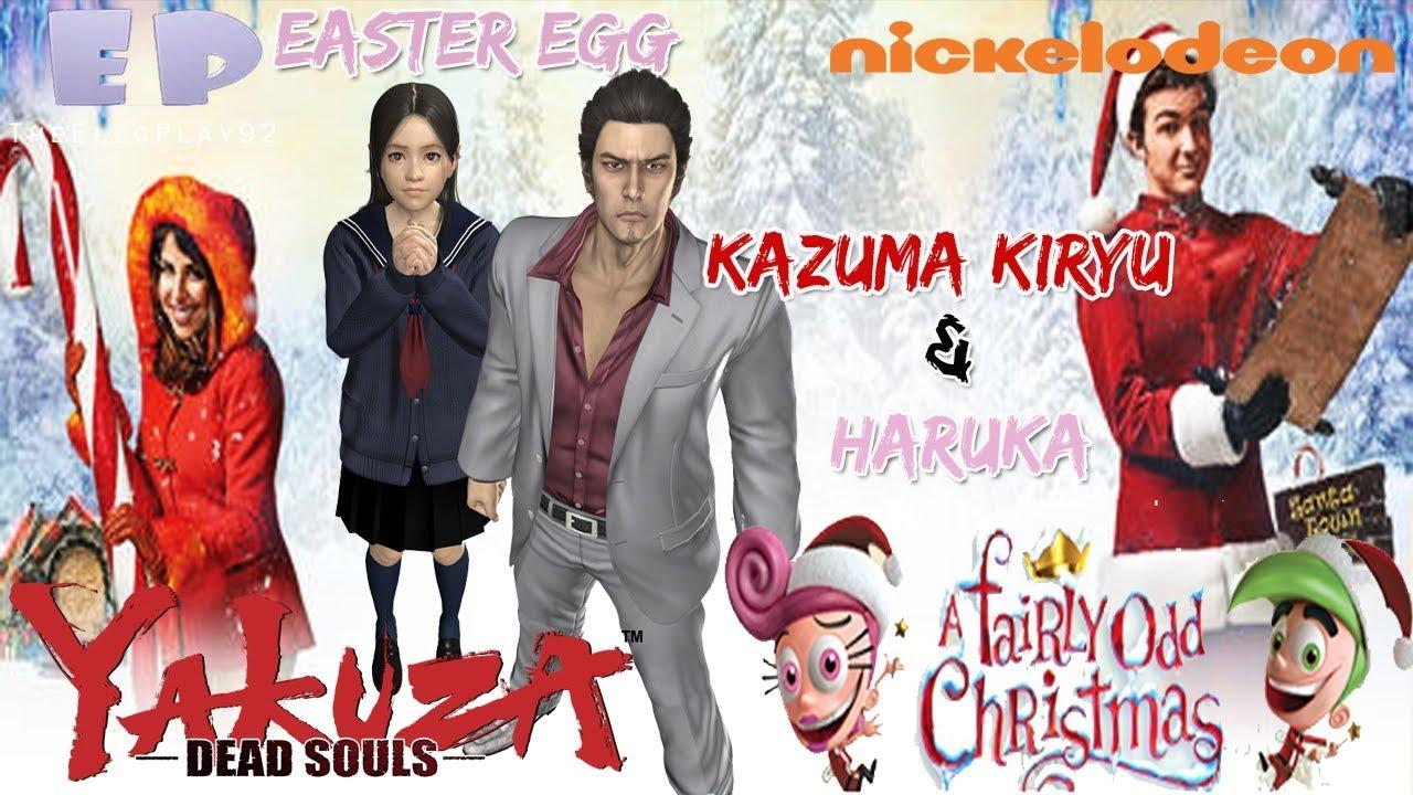 Fairly Oddparents Christmas Movie.Kazuma Kiryu Haruka In Nickelodeon S A Fairly Odd Christmas Movie Yakuza Dead Souls Easter Egg
