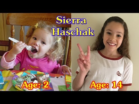 Sierra Haschak transformation from 1 to 14 years old