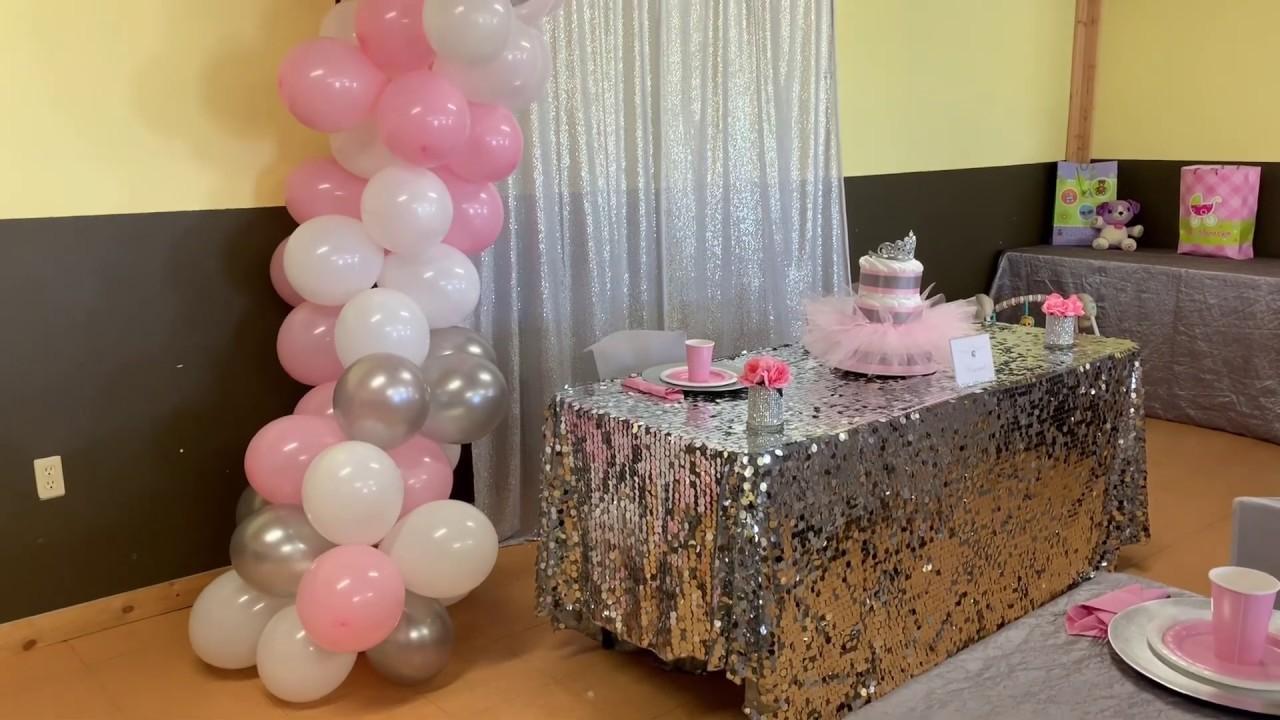 Easy DIY's & Ideas/ How To Style A Tutu & Tiara Theme Baby Shower #babyshower