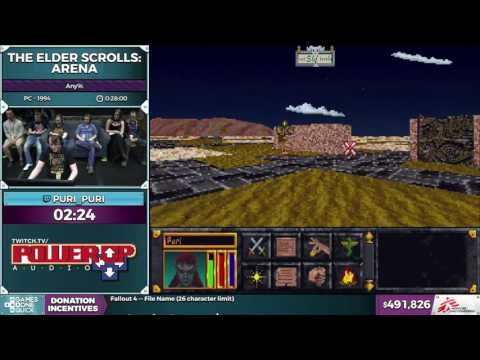 The Elder Scrolls:  Arena by Puri_Puri in 0:25:31 - SGDQ2016 - Part 121