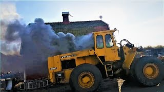 Big Cold Tractors Engines Starting Up and Sound