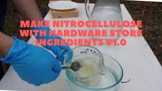 Make Nitrocellulose Or Gun Cotton With Hardware Store Ingredients!