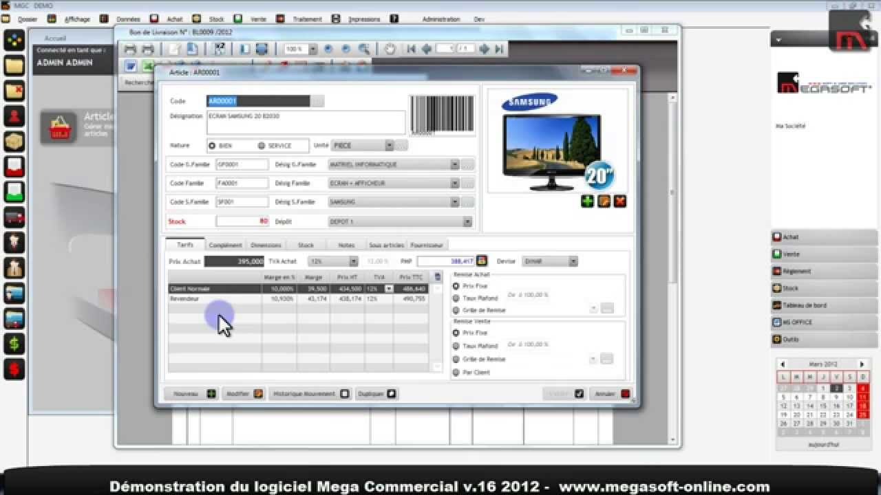 logiciel de gestion commerciale en tunisie youtube. Black Bedroom Furniture Sets. Home Design Ideas