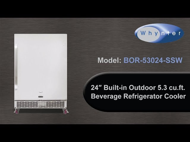 Whynter 24″ Built-in Outdoor 5.3 cu.ft. Beverage Refrigerator Cooler BOR-53024-SSW