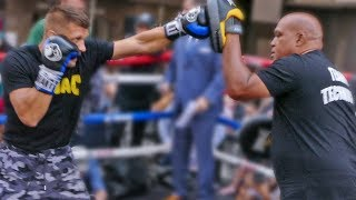 Sergiy Derevyanchenko Shows THUNDEROUS POWER !! Full Public Workout | vs. GGG