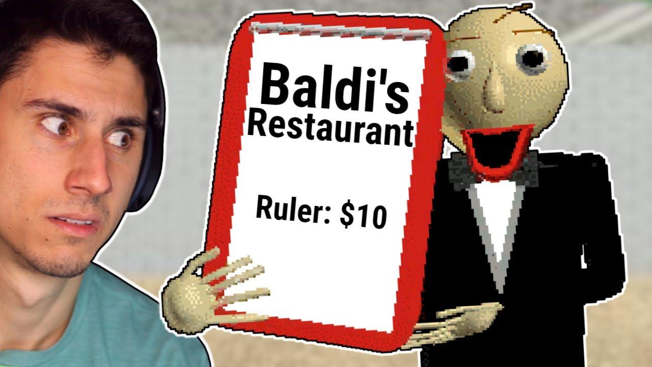 DO NOT Eat At Baldi's Restaurant!   Baldi's Basics