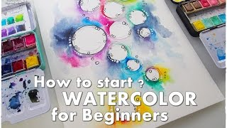 How to Start? How to Break a Blank Page? WATERCOLOR for Beginners #1 ♡ Maremi