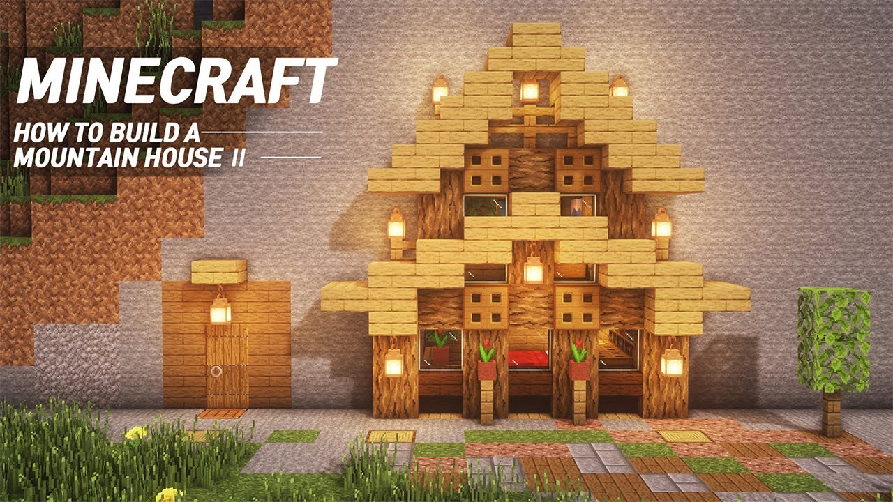 Minecraft Mountain House Ii Tutorial How To Build In Minecraft 69 Youtube