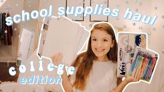 HUGE college school supplies haul 2020 ll Jade Benward