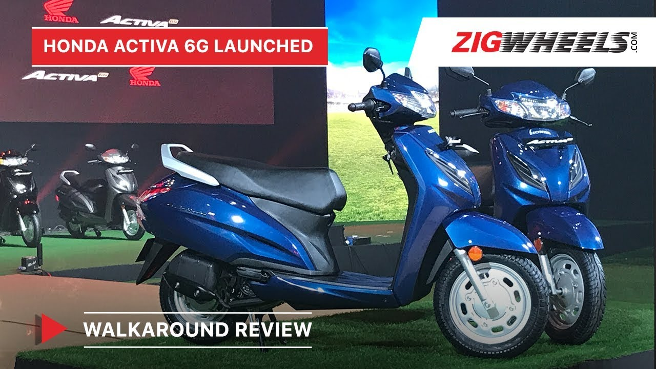 Honda Activa 6g Walkaround Review Bs6 Launch Price Features More Zigwheels Youtube