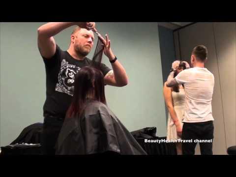 Haircutting class: layers, blending, keeping the hair length