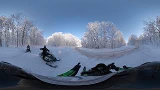 360 Snowmobiling Video