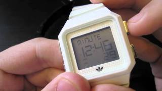 how to work a adidas peachtree watch