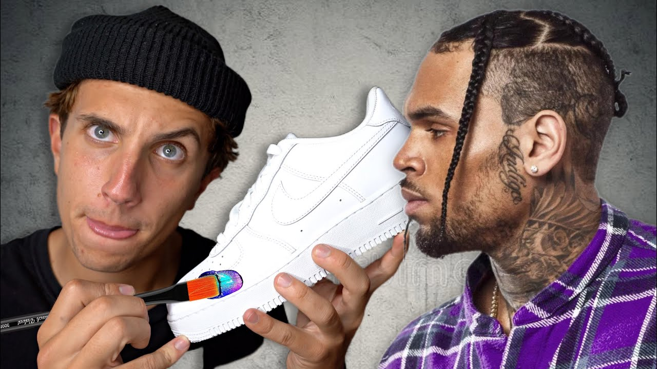 I Customized Air Force 1!! 🎨👟 For Chris Brown…