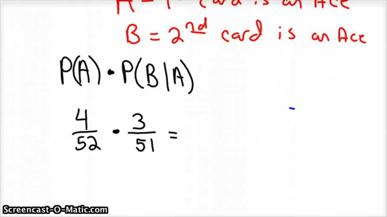 Dependent Event Example