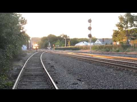 Railroad Activity on the MBTA's Fitchburg Line in Belmont