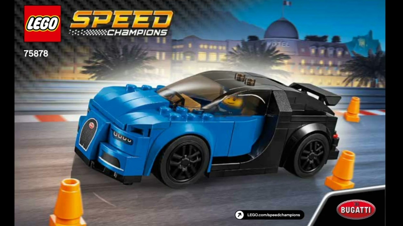 2017 lego speed champions bugatti chiron instruction 75878 new youtube. Black Bedroom Furniture Sets. Home Design Ideas