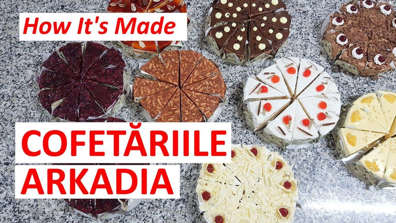 Cum Se Produc Prăjiturile La Cofetăria Arkadia Youtube