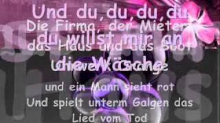 Jennifer Rostock-Du willst mir an die wäsche(lyrics)