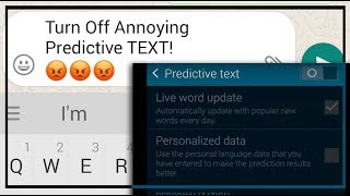 How to Turn Off Predictive Text on Android - Samsung Galaxy S5