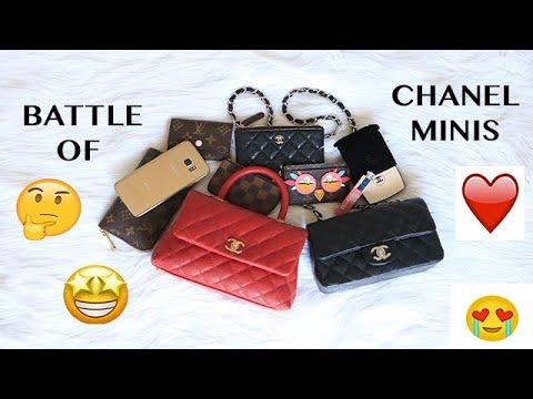 53820e0f4084ec BATTLE OF CHANEL MINIS || CHANEL COCO HANDLE MINI & CHANEL RECTANGLE MINI