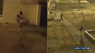 BODYCAM VIDEO: Gunman opens fire on LAPD officer in dramatic shootout | ABC7
