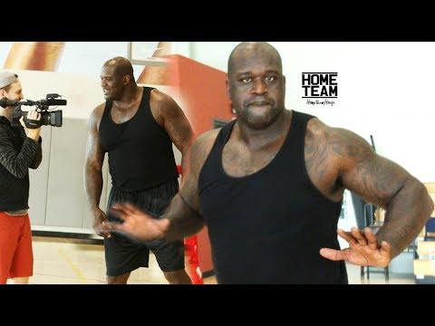 SHAQ Still Has It! Steph Curry Range -  1 ON 1 Game vs James Hunt