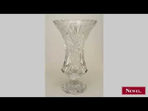 Antique French Victorian cut crystal vase supported on