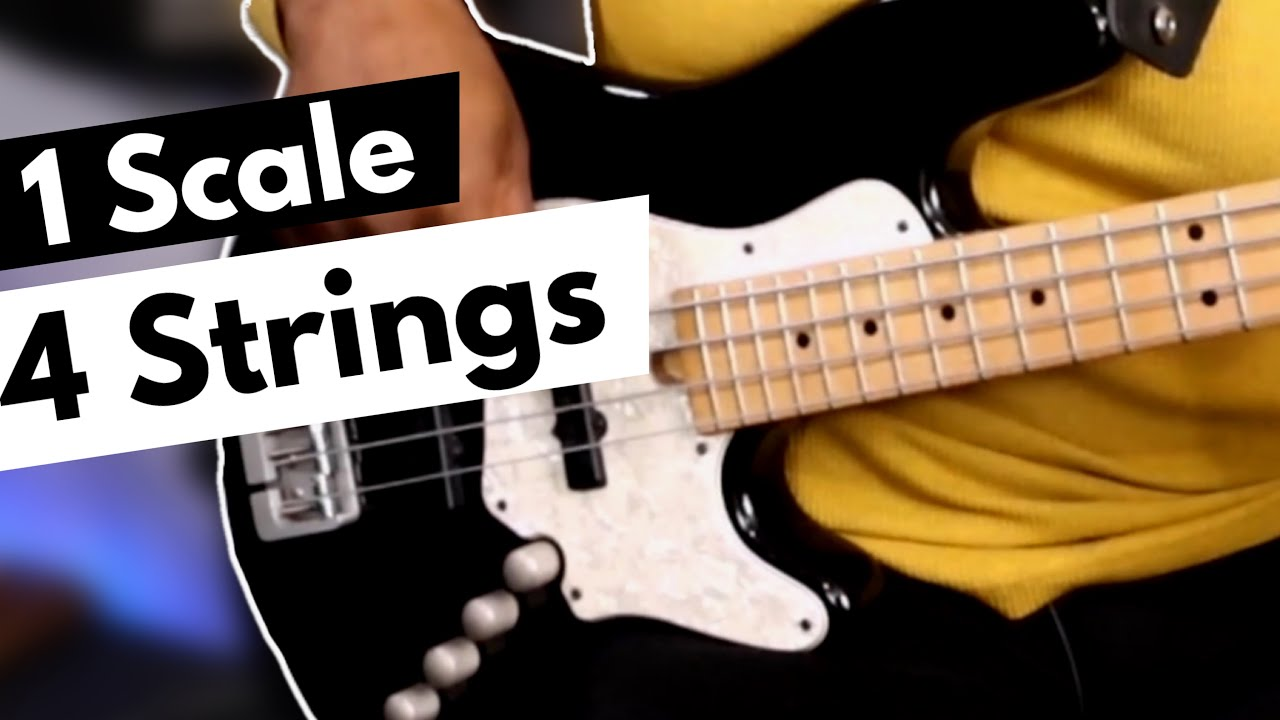 Fretboard Mastery & Navigation | Play 1 Scale with 4 Strings (for beginners)