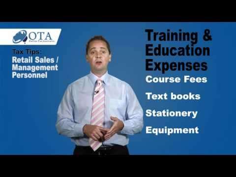 Tax Tips and Deductions - Retail sales and management personnel