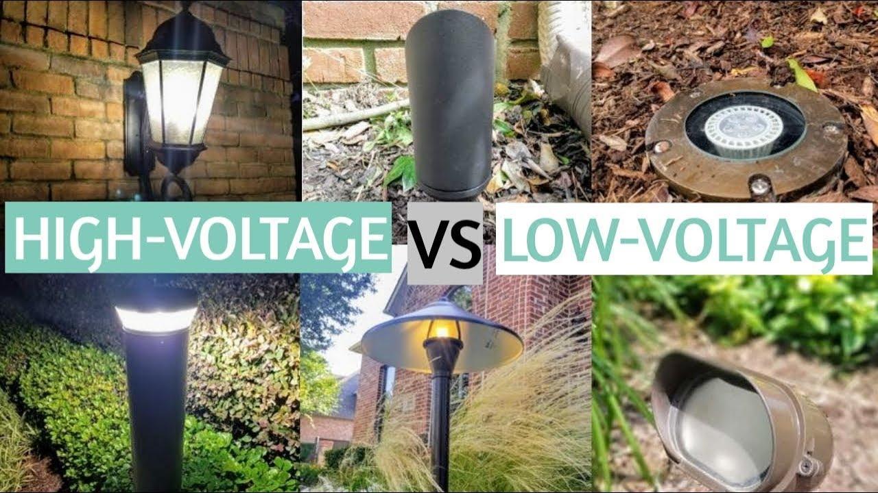 high voltage vs low voltage landscape lighting