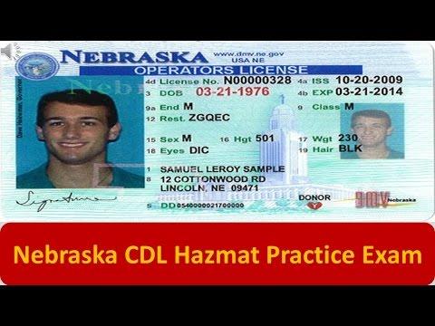 Nebraska CDL Hazmat Practice Exam