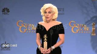 Lady Gaga at 73rd Annual Golden Globe Awards | Press Room 360p