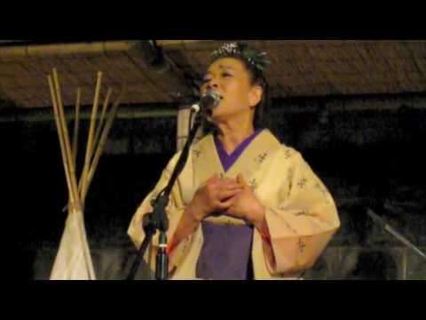 Ikue Asazaki 2009 8 30 in Blue Moon, Hayama, Japan  朝崎郁恵 おぼくり〜ええうみ
