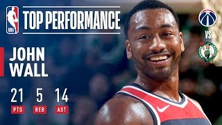John Wall Leads The Wizards To A Win vs The Celtics On Christmas Day!