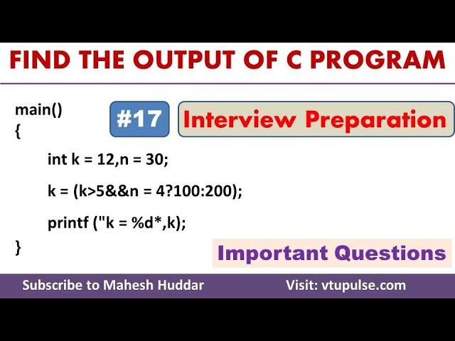 #17 Find the Output, Logical Operators, Conditional Statements, Campus Interview Preparation