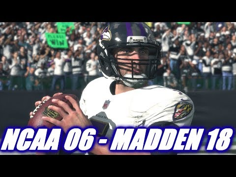 JOE FLACCO THROUGH THE YEARS - NCAA FOOTBALL 06 - MADDEN 18