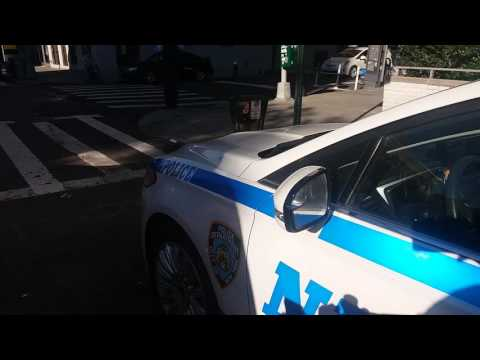 NYPD Recruit Ford Vehicle Parked Outside The NYPD Recruitment Center In Manhattan, New York
