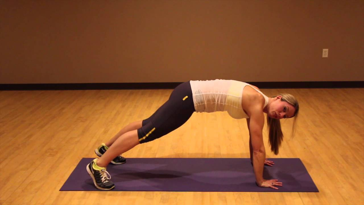 Plank Alternating Side Toe Touch - YouTube