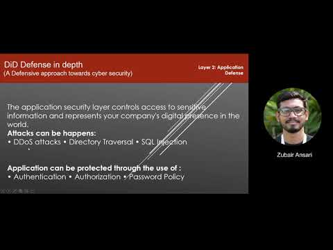 DiD - Defense in Depth (A defensive approach towards cyber security)