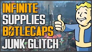Fallout 4: INFINITE BOTTLECAPS & INFINITE ALL JUNK GLITCH (UNLIMITED)