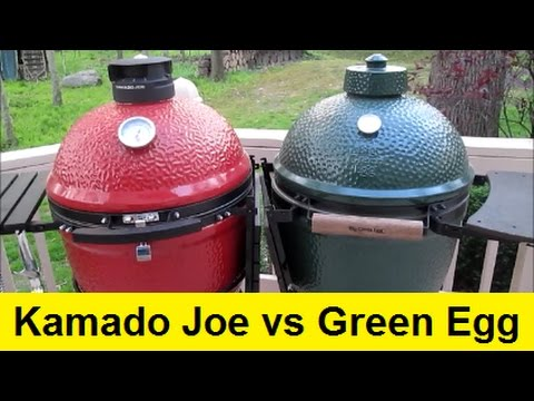 Big Green Egg Vs Kamado Joe Ceramic Grills Youtube