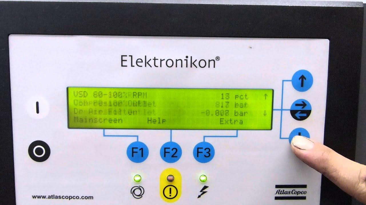 model p elektronikon i manual