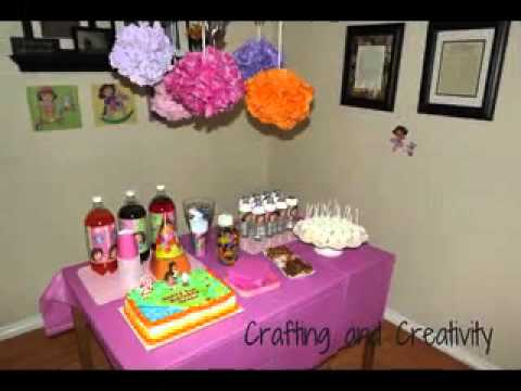 Dora birthday party decorations ideas YouTube
