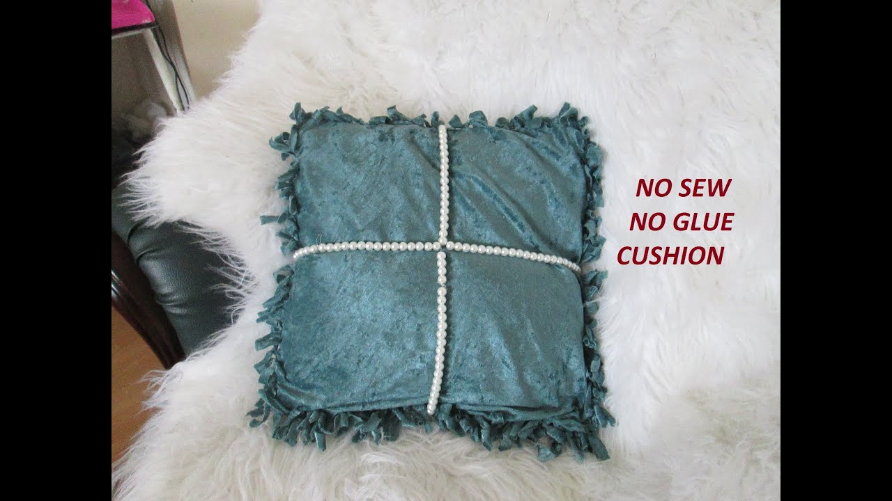 diy chair cushion no sew pink swivel cover glue youtube