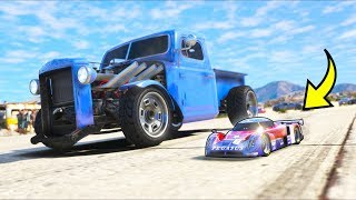 I took my RC car to a DRAG RACE!! (GTA 5 Mods - Evade Gameplay)