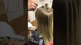 Микро капсульное наращивание волос